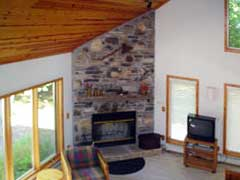 Lakelodge Loft View of Fireplace