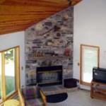 Lakelodge Loft View of Fireplace